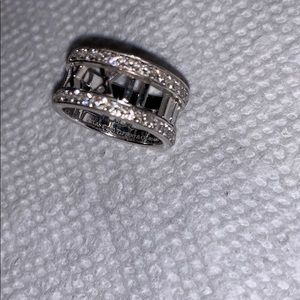 Tiffany & co atlas 18k white gold diamond ring 5.5